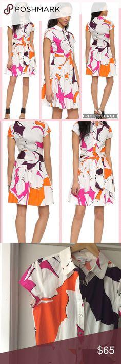 🌷Diane Von Furstenburg Scarlet Shirtdress  NWOT🌷 Sold Out DVF Scarlett Shirtdress is NWOT It's a bold multicolor print, very flirty. Its in great condition. Size 8. Use offer button. Thanks! Diane Von Furstenberg Dresses