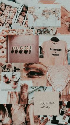 rose gold pink aesthetic mood board background wallpaper