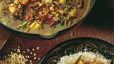 Karrigryte Paella, Dinner Recipes, Rice, Eat, Cooking, Ethnic Recipes, Food, Kitchen, Essen