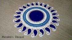Indian Rangoli Best and easy Rangoli Design - The Handmade Crafts Easy Rangoli Designs Diwali, Free Hand Rangoli Design, Small Rangoli Design, Rangoli Ideas, Rangoli Designs With Dots, Simple Rangoli, Rangoli Borders, Rangoli Border Designs, Rangoli Designs Images