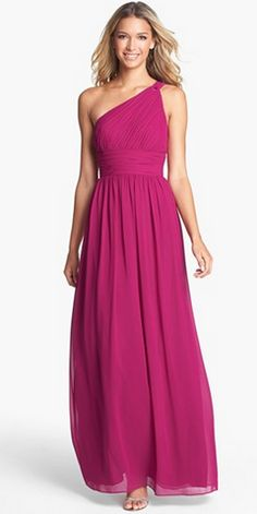 The prettiest fuchsia bridesmaid dress