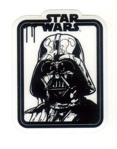 #1726 Star Wars Darth Vader Head Painting ,6x7.5 cm decal sticker…