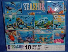 Ceaco Jigsaw Puzzles 10 puzzles SEASIDE Tropical Waters  by Charles Bragg    E6 #Ceaco