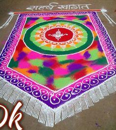 Get hundreds of rangoli competition winning designs. Take part in rangoli competition during festivals and make these rangoli competition winning designs. Rangoli Designs Latest, Rangoli Designs Flower, Rangoli Patterns, Colorful Rangoli Designs, Rangoli Designs Diwali, Mehndi Designs, Diya Rangoli, Indian Rangoli, Simple Rangoli
