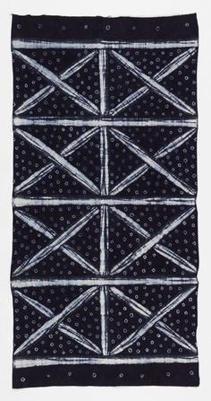 Indigo resist dyed cotton textile, Nigeria, 1950's