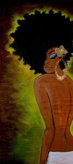 BLACK IS BEAUTIFUL: Art by Yvette Crocker http://www.shorthaircutsforblackwomen.com/natural-hair-style_pictures/