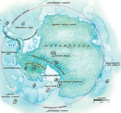 Antartic Circle, map, illustration. Map by Mike Reagan  fastcompany.com