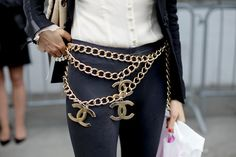 Fashionable Friday: Chanel  Good God don't stand near any deep water with those on!