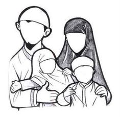 Fine Coloriage Famille Musulmane that you must know, Youre in good company if you?re looking for Coloriage Famille Musulmane Cartoon Girl Images, Couple Cartoon, Family Illustration, Cute Illustration, Cartoon Familie, Vieux Couples, Muslim Images, Muslim Couple Photography, Art Public