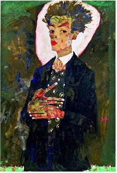 Egon Schiele self portrait 1911