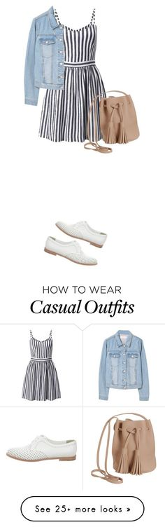 """049:casual"" by shinrashuya on Polyvore featuring Miss Selfridge, MANGO, Manolo Blahnik and Humble Chic"