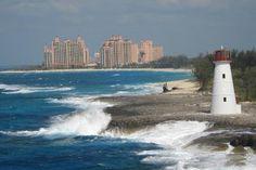 Atlantis from cruise ship entering Nassau harbor