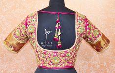 Deez Designer Boutique. Contact : 095429 78845. Sari Blouse, Blouse Outfit, South Indian Blouse Designs, Half Saree, Graphic Sweatshirt, Boutique, Bridal, Sarees, 24 December