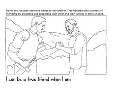 coloring pages david and jonathan - photo#17