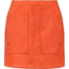 Missguided Petite Spódnica mini orange