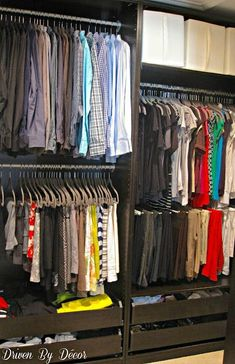 tells which units she used, how they worked, IKEA's PAX Closet System: The Good, the Bad, and the Ugly #customclosets