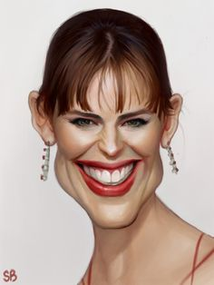 Funny Celebrities Caricatures...Jennifer Garner...<3 her