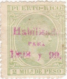 You are purchasing an 1899 Puerto Rico 2 mils de peso stamp. It is a used stamp and is in good condition. Puerto Rico History, Vintage Stamps, Puerto Ricans, Ancestry, Old Photos, Pride, Presents, Facts, King