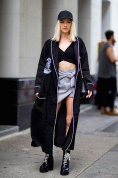Moda uliczna New York Fashion Week wiosna-lato 2017 - 89