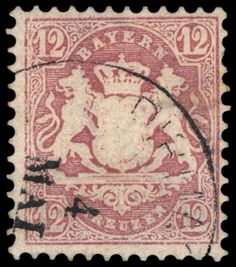 Old German States Bavaria Michel. No. 26 X used, right above 1/2 tooth and reverse little scratched, otherwise in perfect condition, FB Sem BPP, Michel 1,400.- Euro  Dealer Schwanke GmbH  Auction Minimum Bid: 200.00EUR