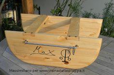 il #barchino costruito da Massimiliano