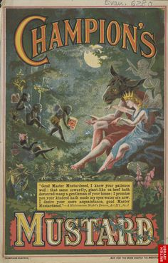Ad for Champion Mustard, 1895 (quote from a Midsummer's Night Dream)