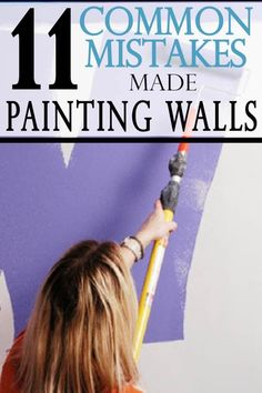 Most of the most common mistakes people make when painting walls happen before they even finish the first coat. Avoid these mistakes made while painting. tips 11 Common Mistakes Made when Painting Walls - Painted Furniture Ideas Painted Kitchen Tables, Kitchen Paint, Kitchen Decor, Painted Tables, Kitchen Ideas, Kitchen Design, Painting Walls Tips, Diy Painting, Painting Hacks
