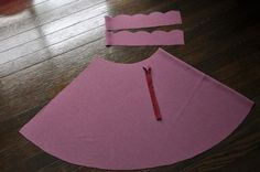 A scalloped topped high waist skirt! i can so do this! Chie lays out the steps in a tutorial....