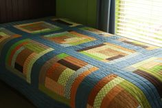 Gee's Bend Inspired Boys Quilt by Make it Do