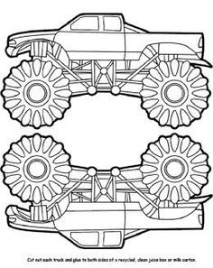 10 wonderful monster truck coloring pages for toddlers | monster ... - Monster Truck Coloring Pages Easy