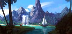 ArtStation - Islands chill time, Roberto Gatto