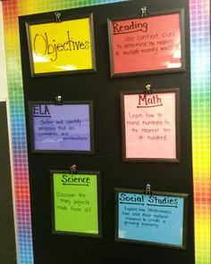 My (1st) objective board in my classroom.