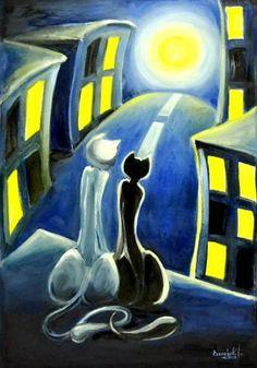 Картины (живопись) : Кошки