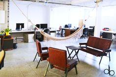 Betahaus Barcelona coworking space open office work interior design desk
