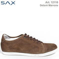 Looking for an elegant comfort ? Try this shoe from the new SAX Summer collection. In washed suede,  delavé marrone coloured with white rubber sole. Italian product.