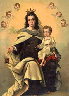 NUESTRA MADRE Y SEÑORA LA VIRGEN DEL CARMEN, patrona de la Orden del Monte Carmelo.
