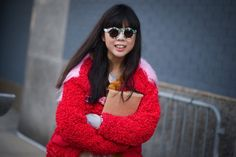 Susie Bubble wearing ZANZAN 'Mizaru' sunglasses at New York Fashion Week #sunglasses #eyewear #zanzan #susiebubble