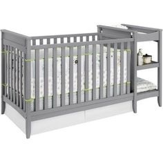 Baby Relax Emma 2 In 1 Crib And Changing Table Combo Gray