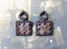 Rustic Medieval Metalwork Charms  HandCast Handmade by Inviciti