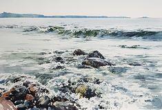 Elisabeth Biström watercolor 2018. #akvarell #watercolour Watercolors, Waves, Outdoor, Instagram, Water Colors, Outdoors, Watercolor Paintings, Ocean Waves, Outdoor Games