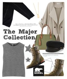 """the major collection from sorel: contest entry"" by maria-maldonado ❤ liked on Polyvore featuring SOREL, COSTUME NATIONAL, Topshop, Rebecca Minkoff, Sole Society, H&M, Eugenia Kim, contestentry and sorelstyle"