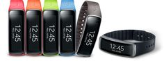 Bands will make her dance!  Samsung Galaxy Gear Fit with Changeable Straps. I want one now!!
