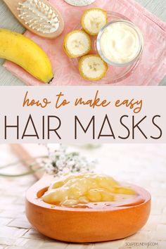 Hair Mask For Damaged Hair, Diy Hair Mask, Hair Masks, Frizzy Hair, Curly Hair, Kinky Hair, Natural Hair Care, Natural Hair Styles, Natural Beauty