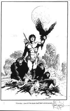 Mark Schultz -  Tarzan of the Apes Comic Art