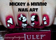 Disney Mickey and Minnie Nail Art