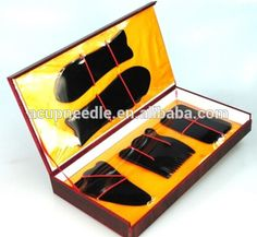 Chinese Traditional Acupuncture Massage Buffalo Horn(Ox-horn) Guasha Tools