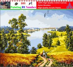 """DIY Painting By Number – Landscape (16""""x20"""" / 40x50cm)     Tag a friend who would love this!     FREE Shipping Worldwide     Get it here ---> https://artgiftworld.com/diy-painting-by-number-landscape-16x20-40x50cm-14/"""