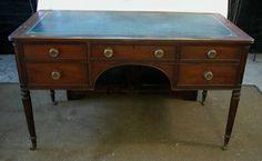 Kittinger Partner's Desk. Five drawers with brass pull knobs. $595