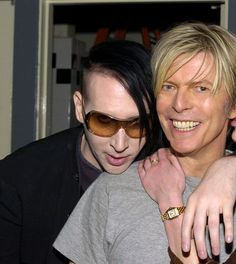 Marilyn Manson and David Bowie