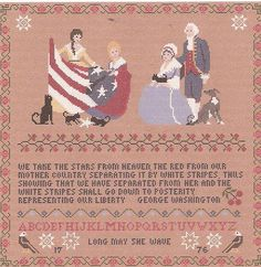 Betsey and The New Flag / A Patriot's by WestWindCrossStitch